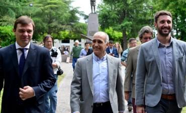 Daniel Salvador participó de los festejos centrales al cumplirse un nuevo aniversario  de la fundación del distrito ribereño