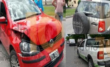 Choque en cadena: Ocurrió esta mañana en avenida Lavalle