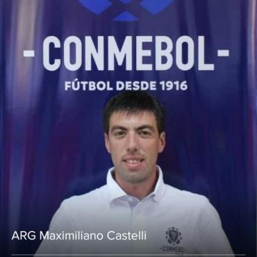 Maximiliano Castelli fue asistente de árbitro en el Campeonato Sudamericano de Fútbol Sub 15