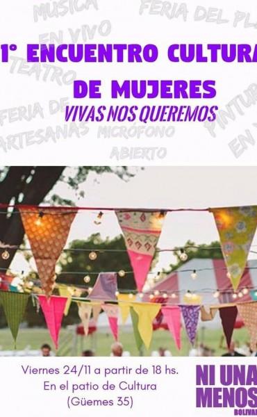 Se realizará 1° Encuentro Cultural de Mujeres