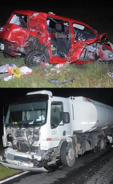 Saladillo: Una joven falleció tras colisionar un automóvil y un camión