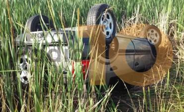 Ruta 205: Despiste y vuelco afortunadamente sin heridos