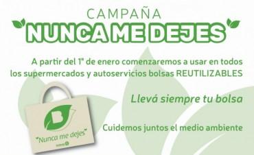 Desde el 1º de enero se entregaran bolsas ecológicas en supermercados y autoservicios