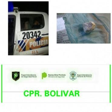 CRP: Dos hombres fueron interceptados en la zona rural, y se les labró una 'Presunta Infracción a la Ley de Droga' (23.737)