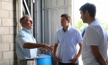 El administrador del Enohsa visitó la planta potabilizadora de agua