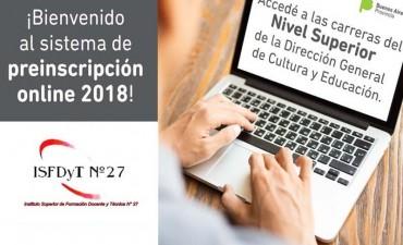 Comenzó la inscripción online para las carreras 2018 en el Instituto 27