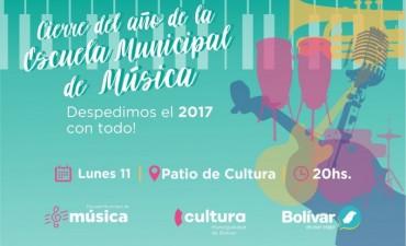 La Escuela municipal de música cierra el año en el patio de Cultura