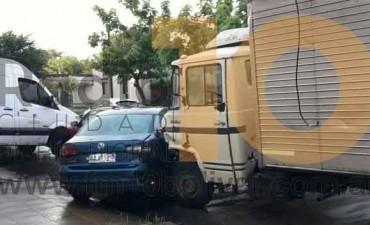 Un inconveniente mecánico desató una colisión múltiple