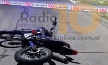 Supuesta caída en moto en Belgrano y 9 de Julio